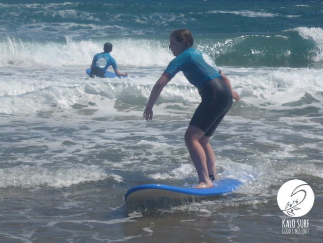 surfing and working on turns