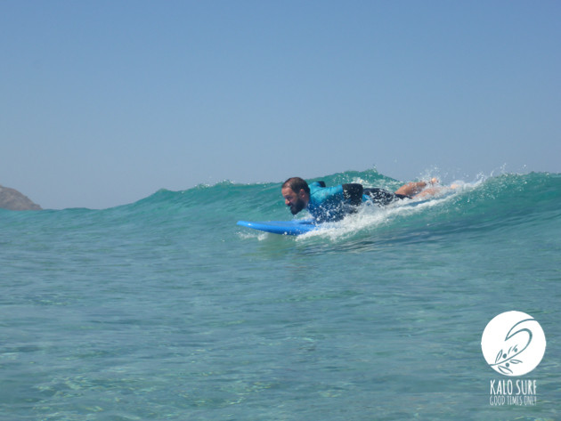 Glassy waves and empty surf in Falassarna