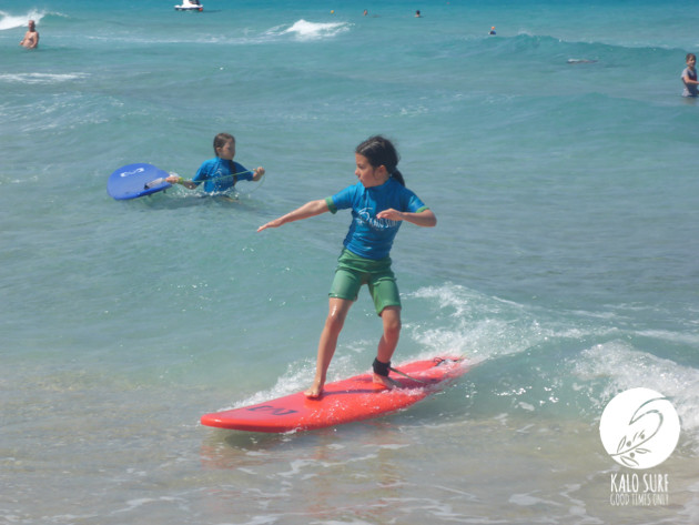 Back hand turns at the surf lesson in Crete