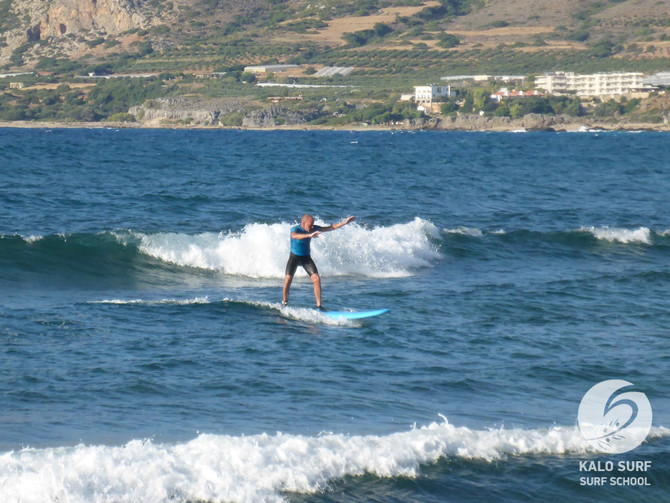 Surfing in Crete - Beginner Surf Course