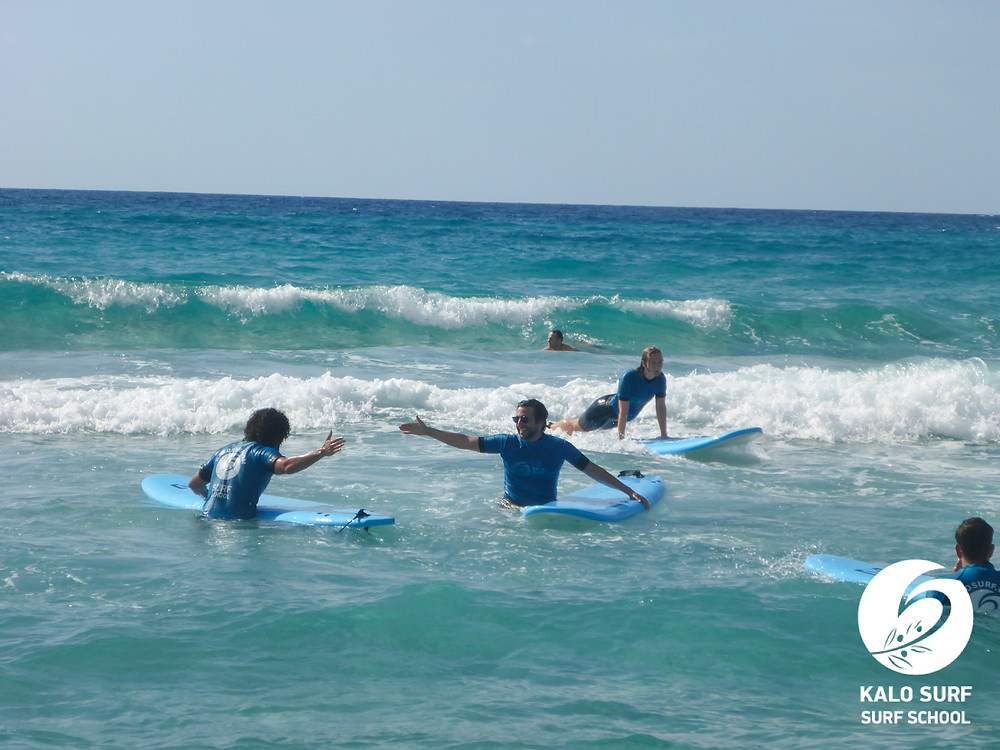 Wellenreiten Kreta, High Five