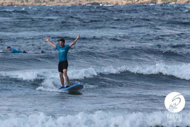 Surfen am Riff von Falassarna