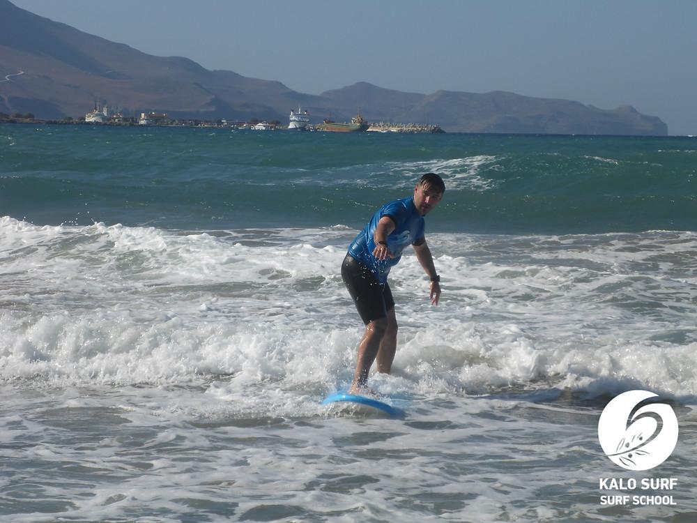 surfboard, surf lesson, Kissamos, Crete