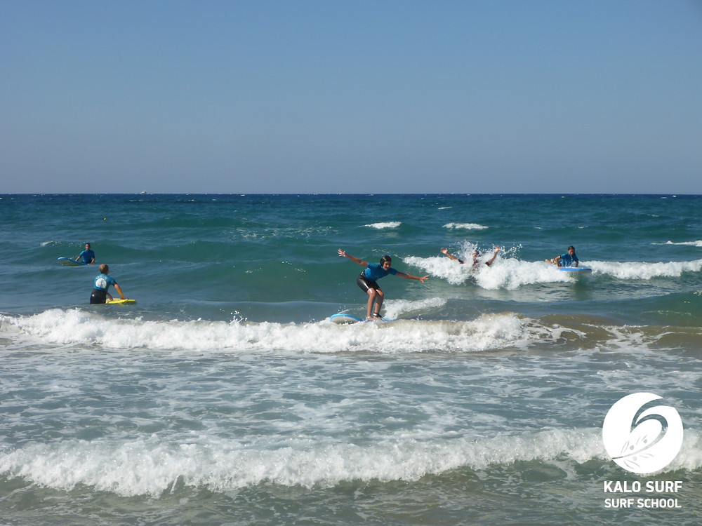 surfing lesson Greece