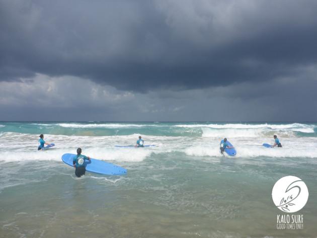 heavy surf in Falassarna