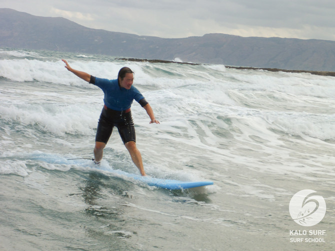 Cloudy Monday and Crazy Swell, Surfing in Crete