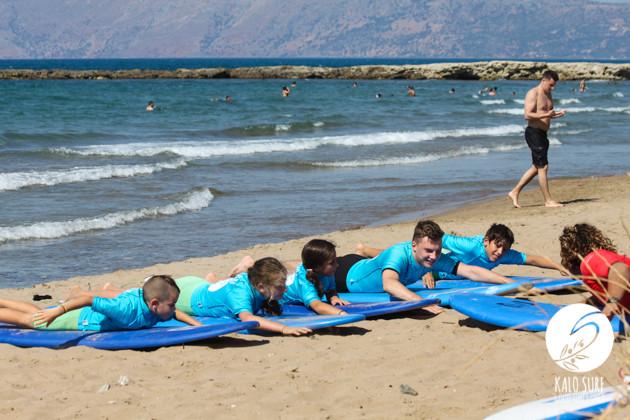 Intermediate Surfing for Kids in Kissamos