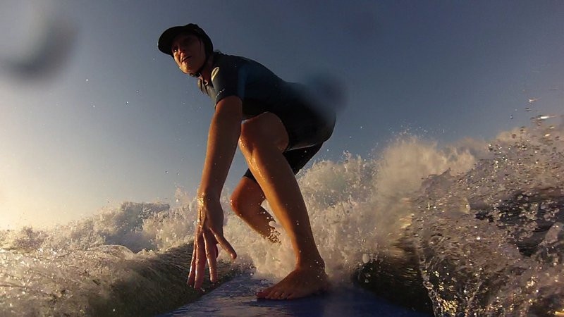 GoPro picture of surfing on Crete