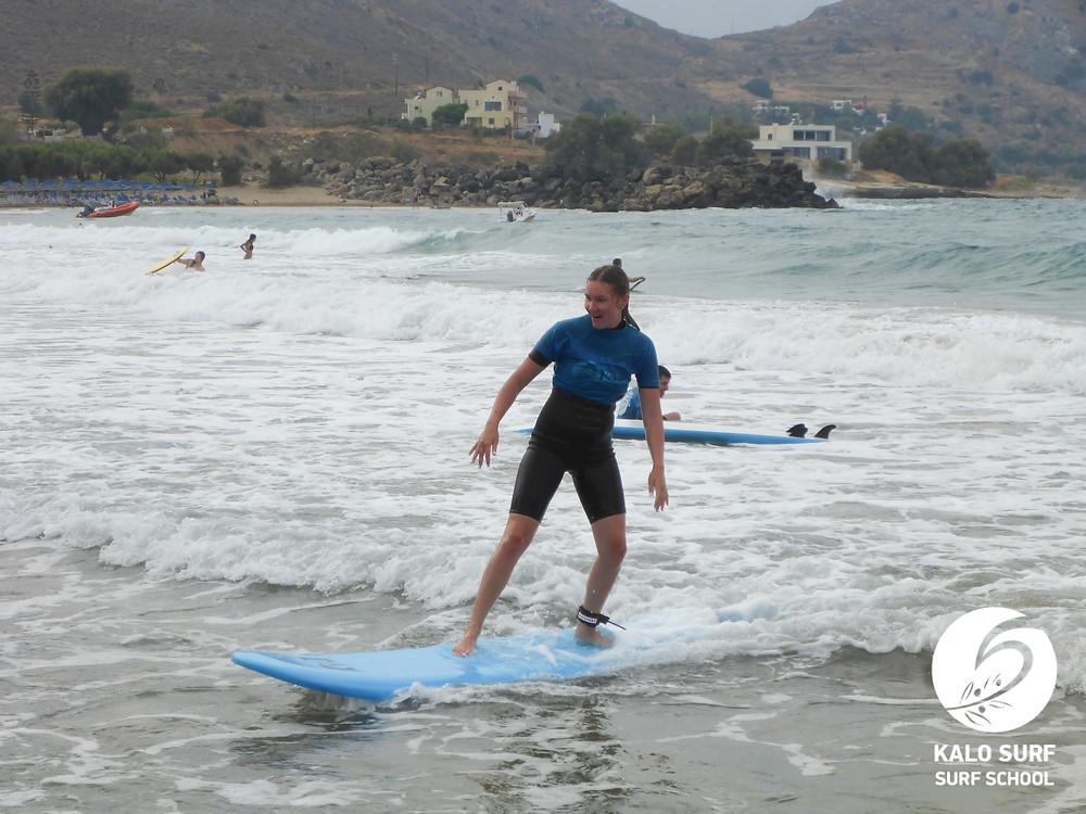Surfing Crete, surf lesson