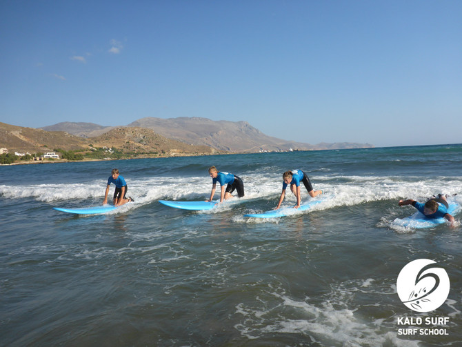 Paddling and Catching Waves in Crete - morning