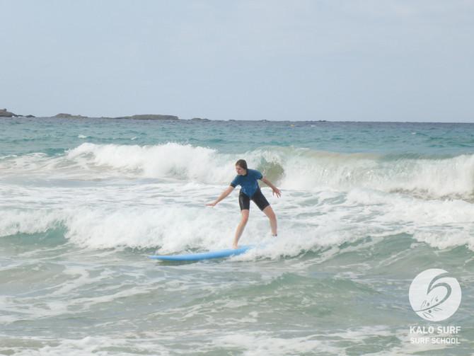 Wellenreiten am Beachbreak von Falassarna
