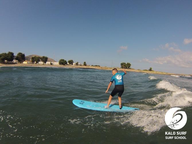 Super Surftag am Riff in Kissamos auf Kreta