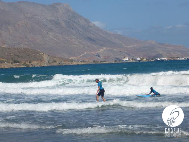 White Water Surfing in Kissamos, Crete