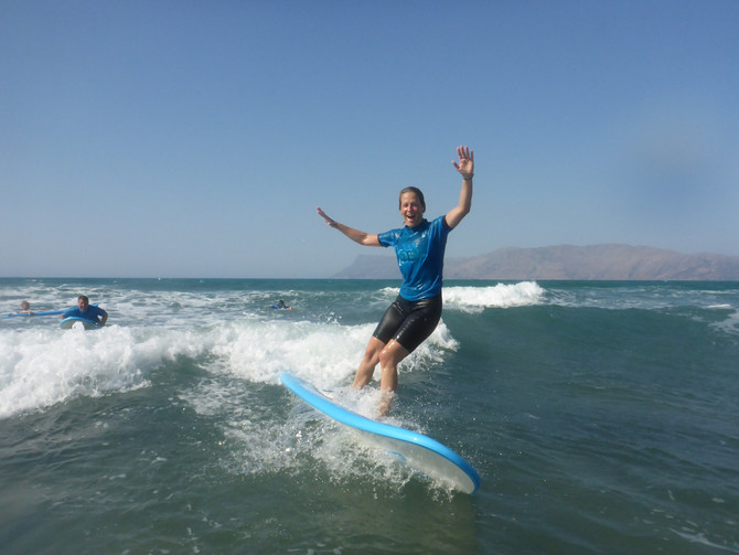 Ideal Conditions for Surfing in Kissamos, Crete