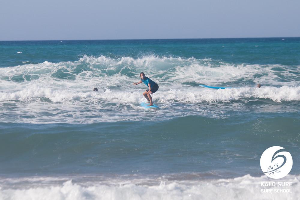 intermediate surf lesson in Greece