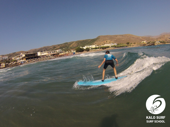 Paddling out in Crete