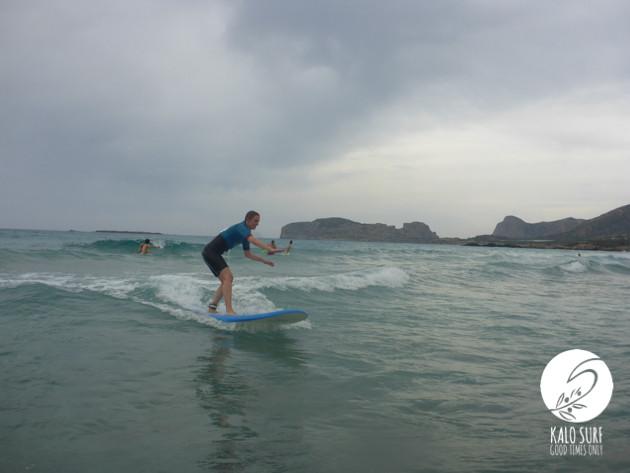 glassy surf in Falassarna, Crete