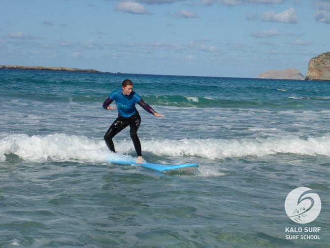 Wellenreiten in Griechenland, bei uns auf Kreta