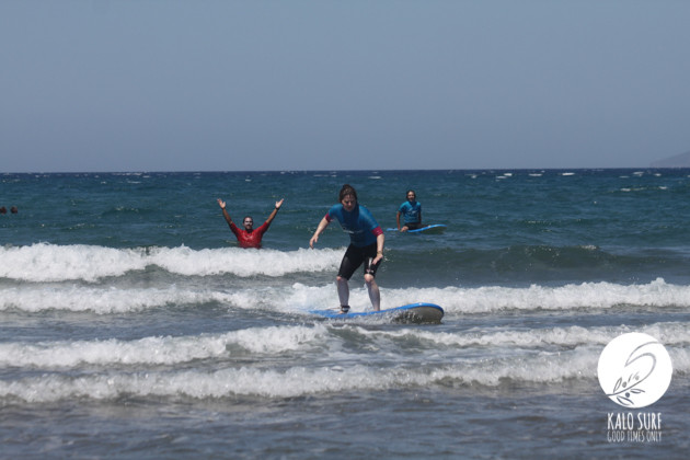 Level check for surfing in Crete