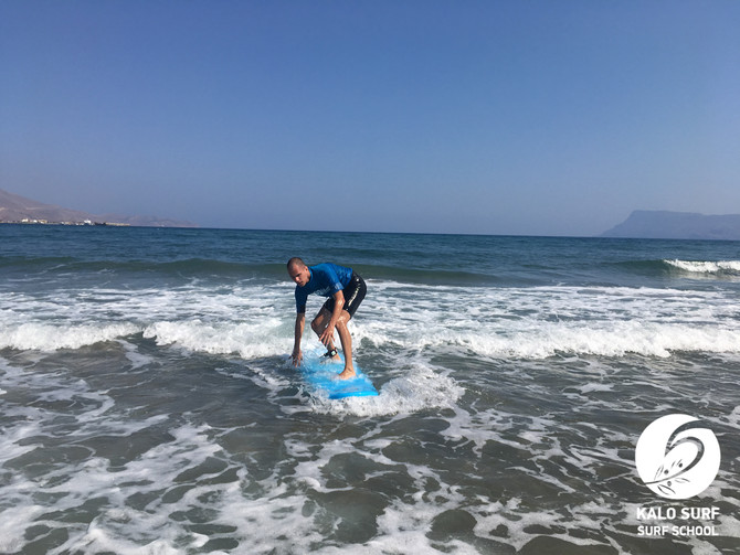 First Surf Experience in Crete