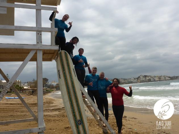 surfers, longboard, surf spot Chania