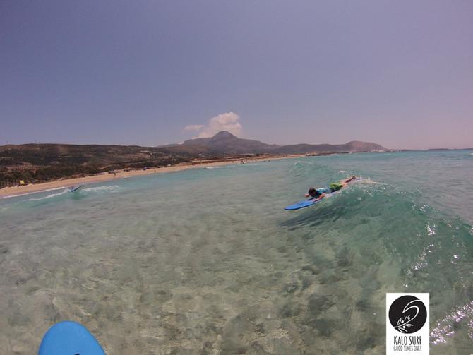 Wellenreiten auf Kreta