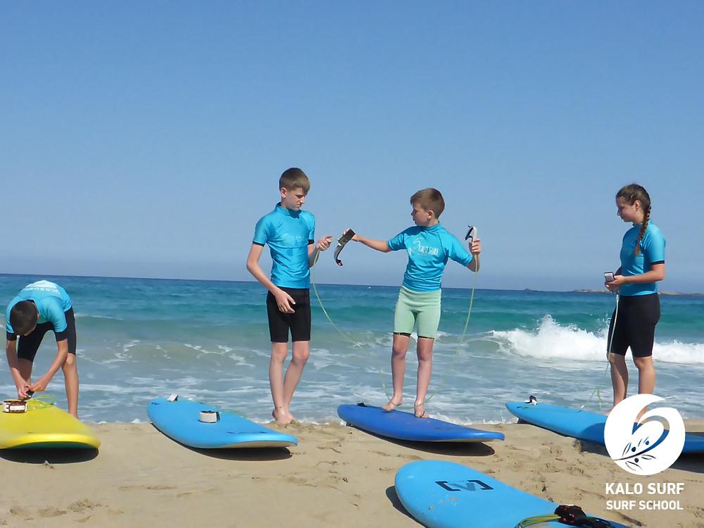 surf lesson, soft boards, Crete Greece