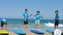 Helping each other out, Riding Waves in Crete