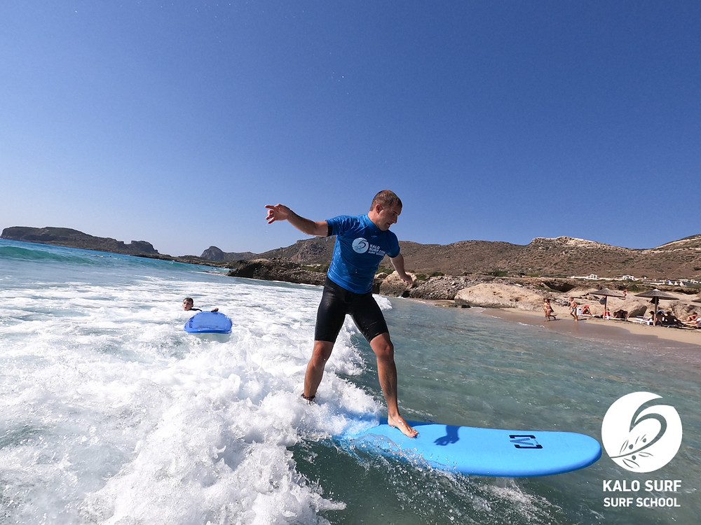 surfing Greece surf course Falassarna