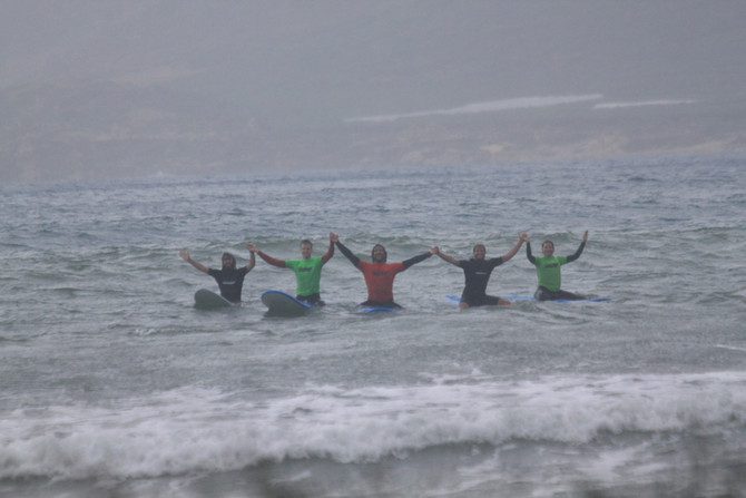 Surfing with pouring rain - Crete shows us her wild side