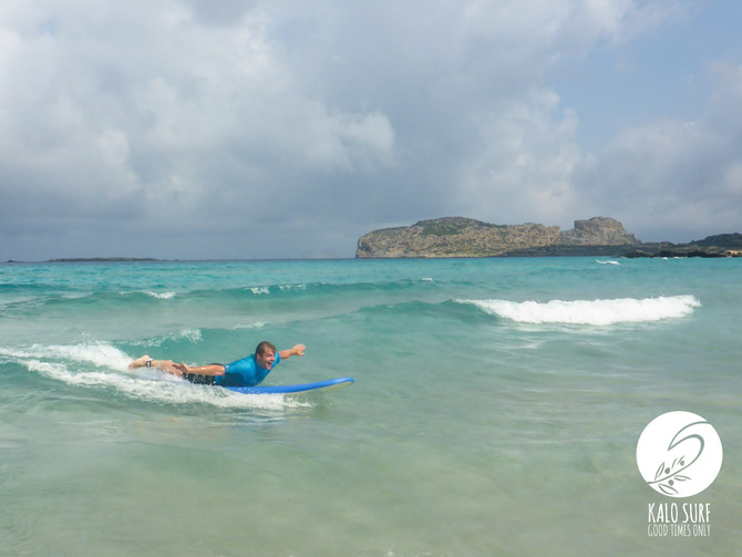 First time surfing on Crete!