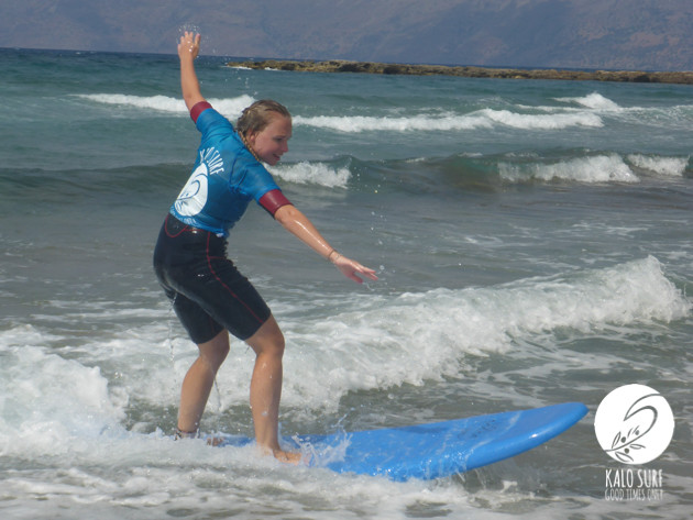 Surf lesson in Kissamos