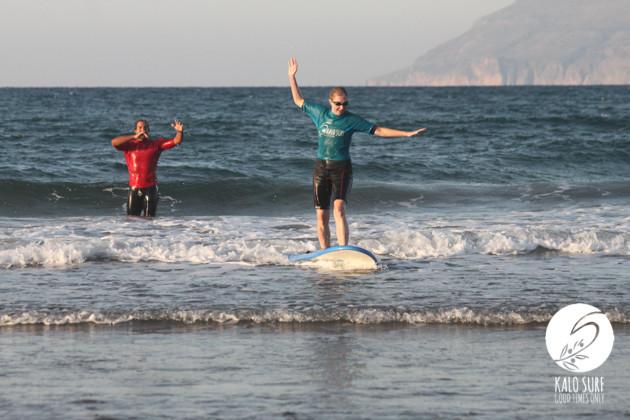 Wellenreiten in Kissamos