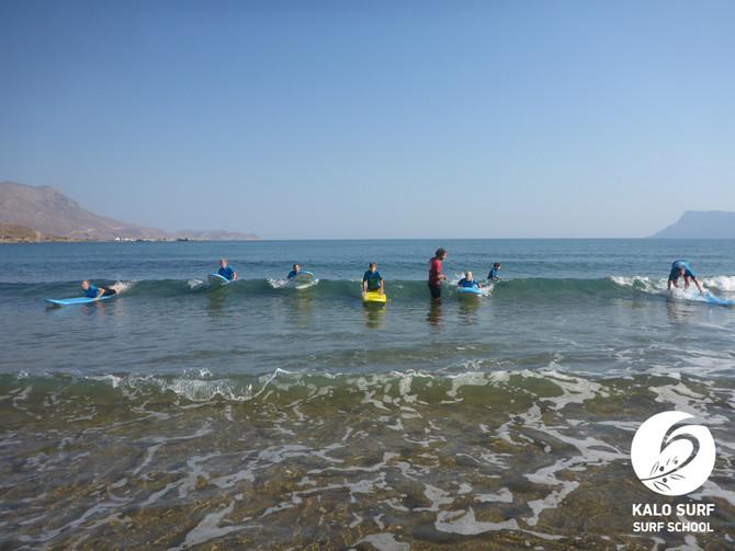 1. Tag Wellenreiten in Kissamos auf Kreta