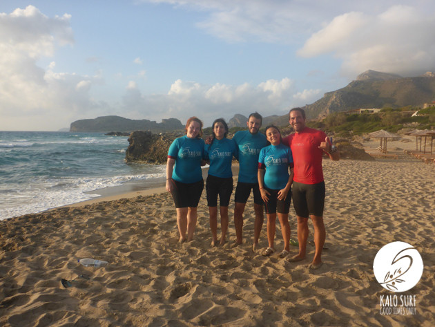 Group photo surf course
