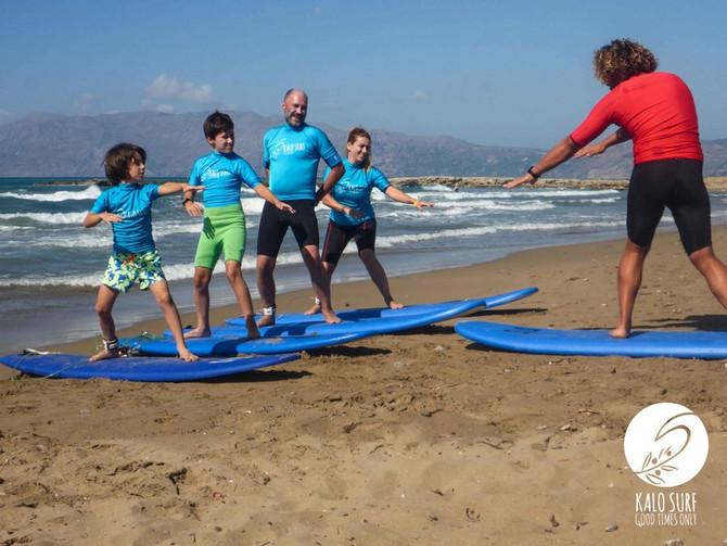 Big and glassy surf in Crete