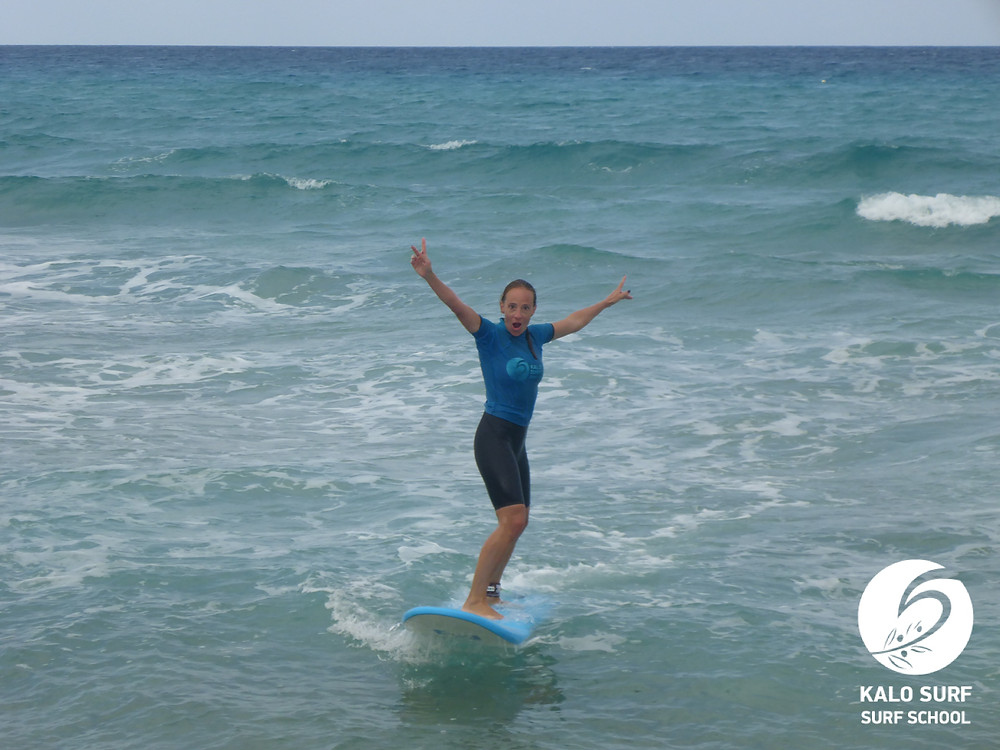 Surfing, Falassarna, Crete, Surf lesson