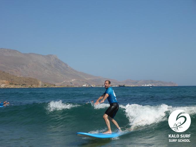 Tag 3 Surfkurs auf Kreta