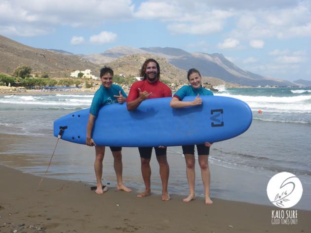 Wellenreiten lernen in Griechenland mit Kalo Surf