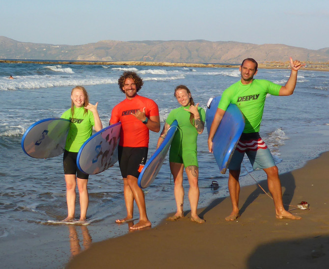 A Perfect Day of Surfing in Crete with Kalo Surf
