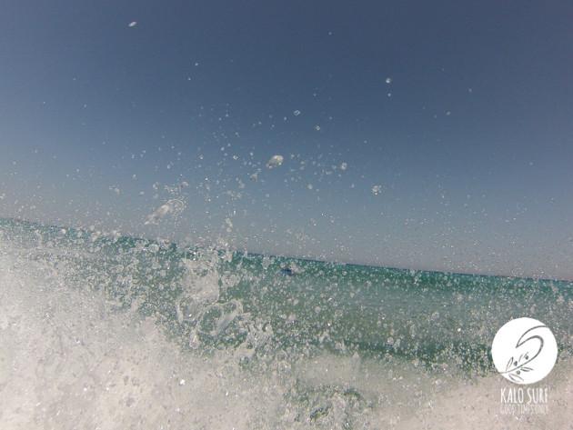 waves splashing in Falassarna