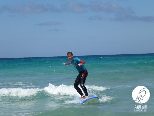 Surfing waves Falassarna
