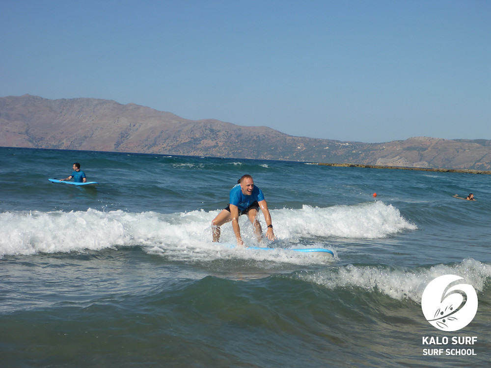 take off in surfing in Greece