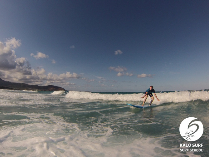 Sonnenschein und Wellenreiten im Oktober auf Kreta