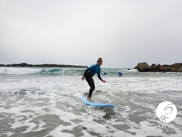 Day Two at the Beginner Surf Lesson in Crete