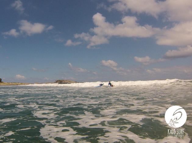 Reef surfing in Crete