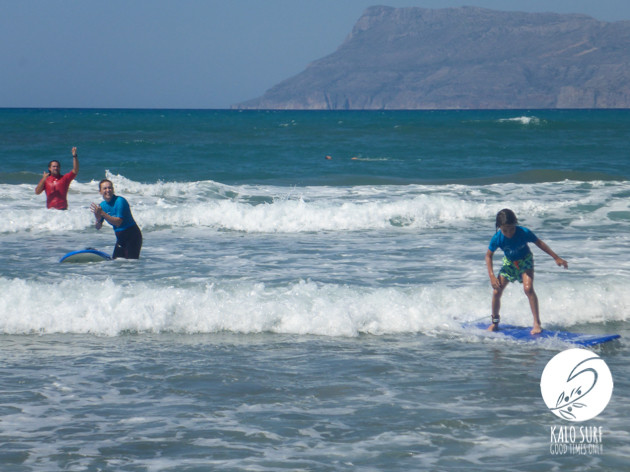 Safety first at Kalo Surf School Greece