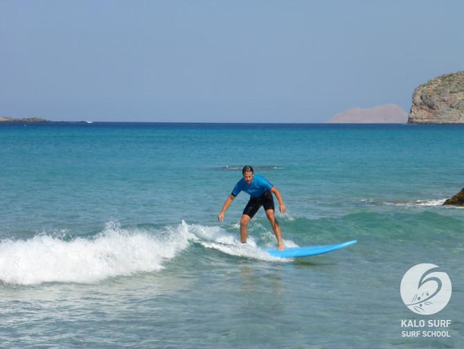 Karibik Feeling heute beim Surfkurs in Falassarna