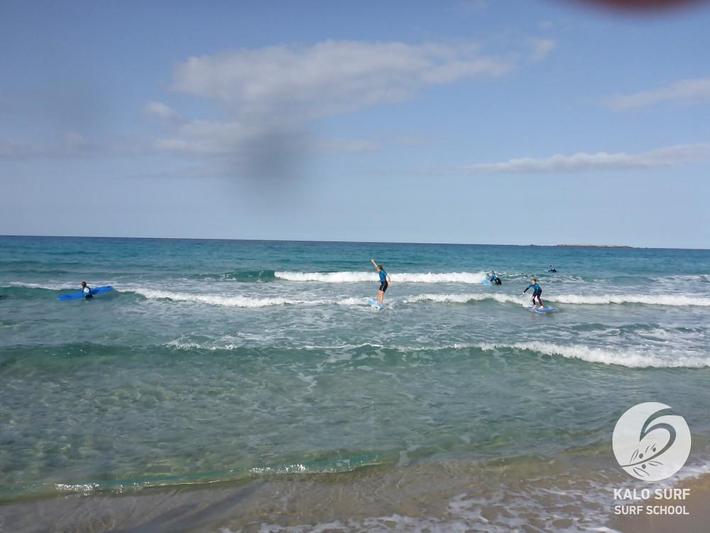 Surfkurs, Falassarna, Kreta, Griechenland