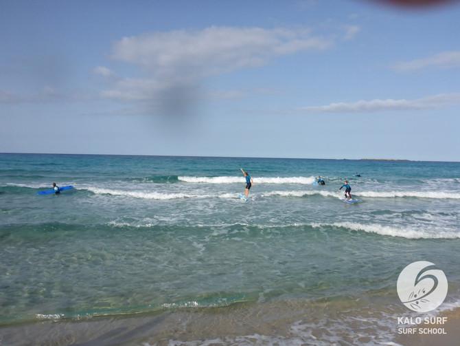 Sonntagmorgen, Surfen in Falassarna